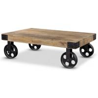 Bison soffbord med hjul - Vintage