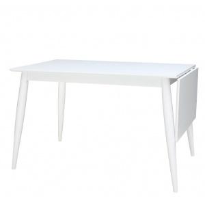 Melo matbord 120-160x80 cm - Vit