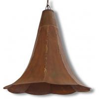 Taklampa Trattlampa - Antik Koppar