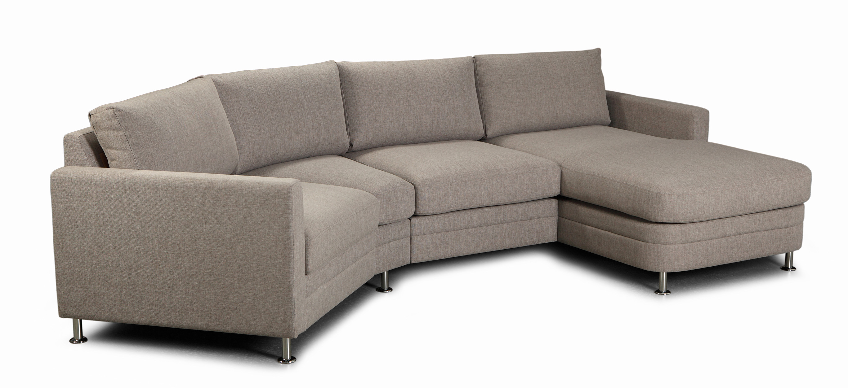 Modern living soffa - Divansoffa med modulböj