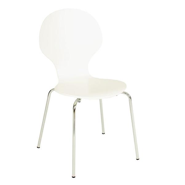 Mac stol - vit/krom