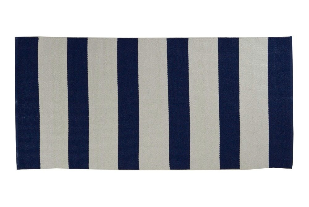 Plastmatta Stockholm - blå/vit
