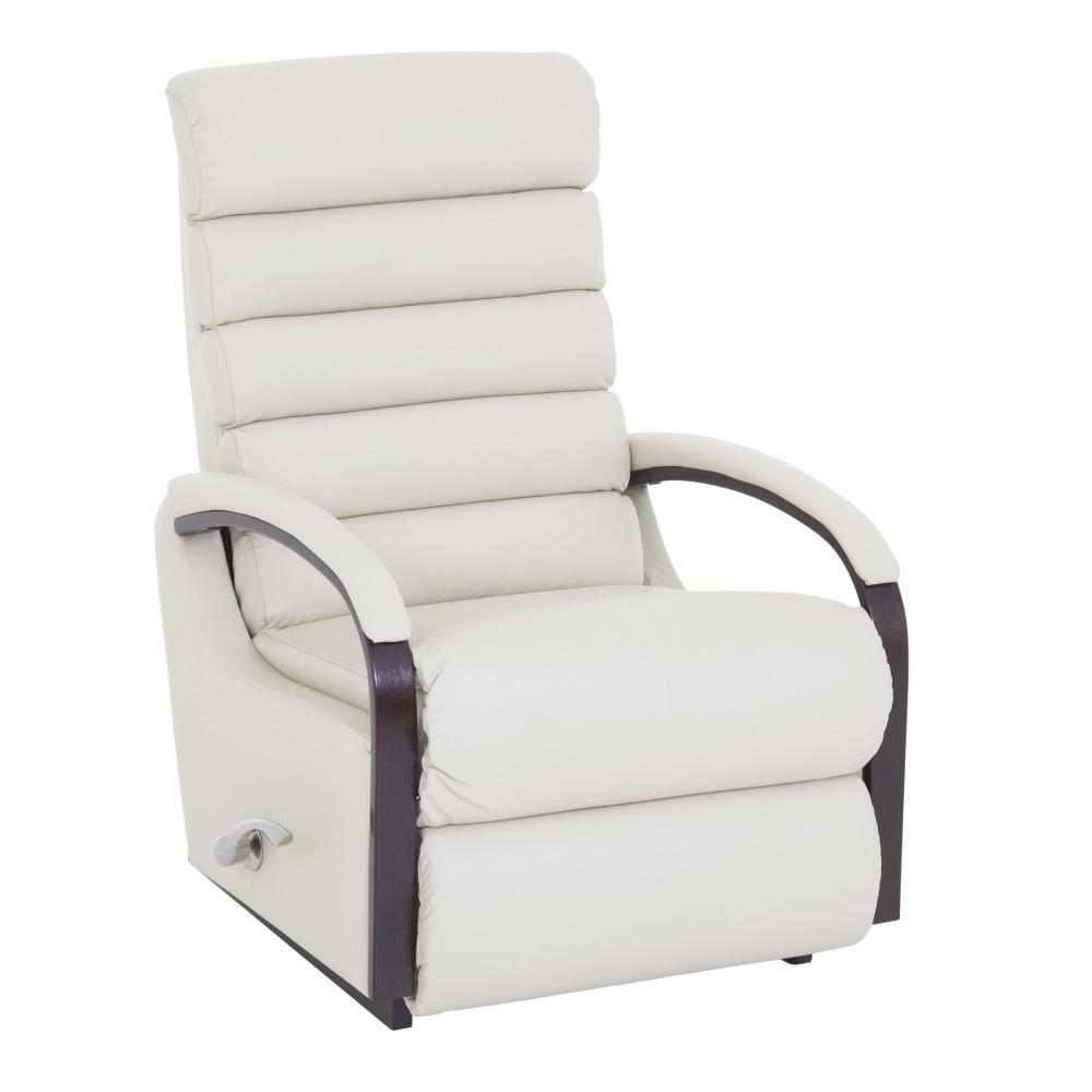 Lazboy Norman reclinerfåtölj i skinn - Cremefärgad