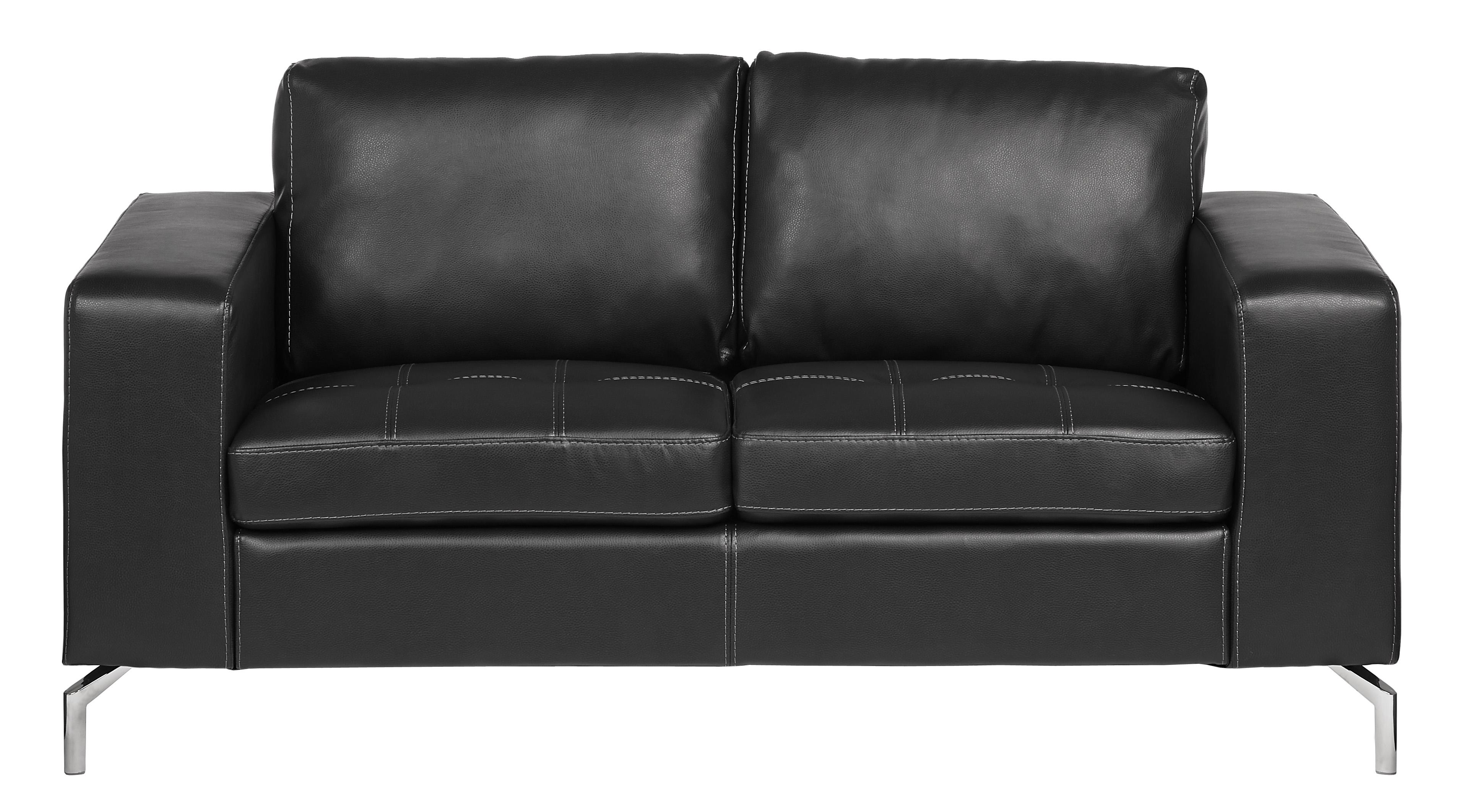 Roma 2-sits soffa - Svart Pellissima läder