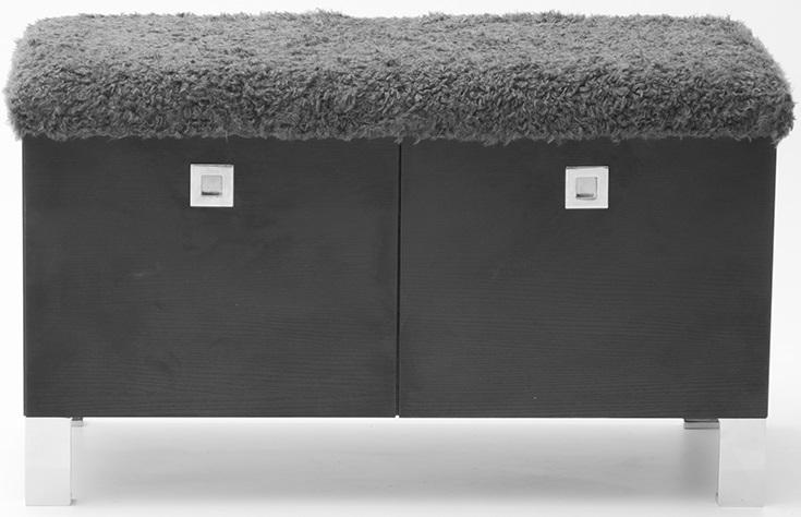 Welcome sittbänk med metallben och förvaring - Svart
