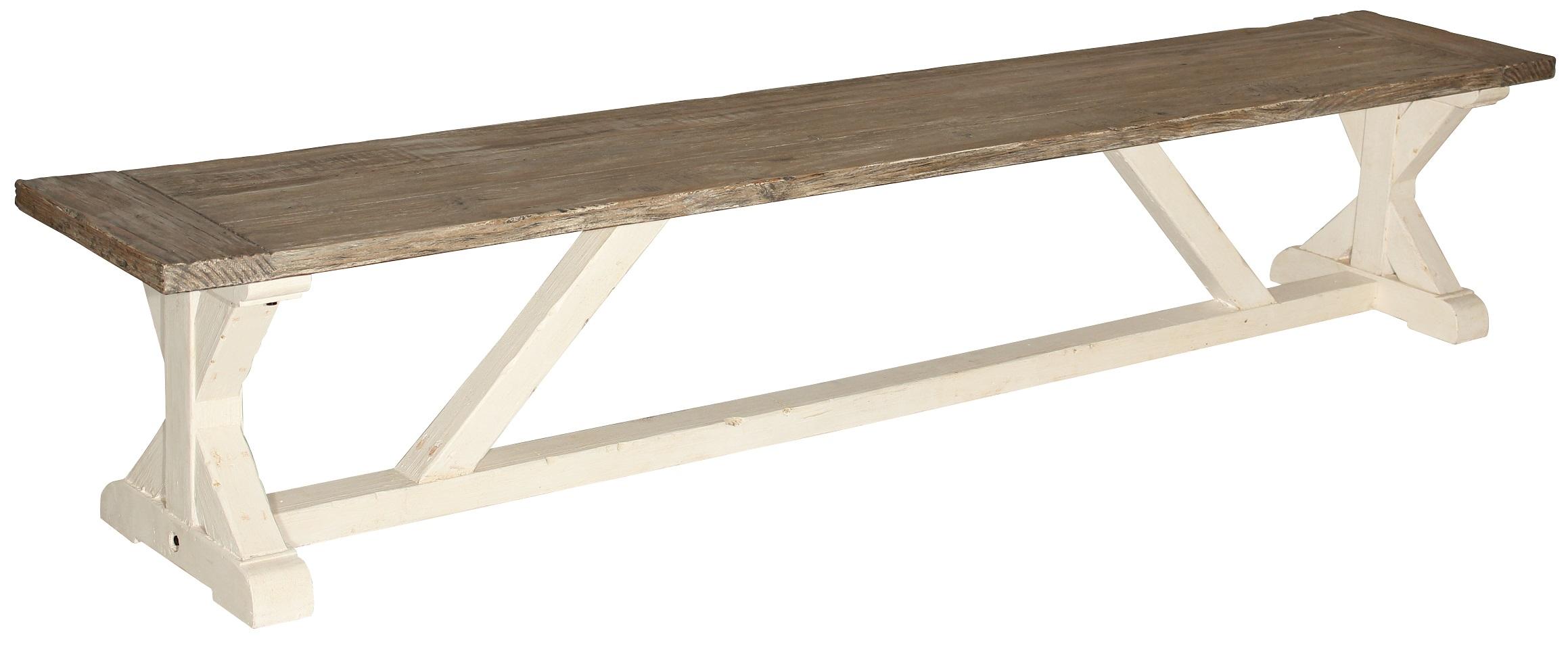 Camden sittbänk i återvunnet trä - 240 cm