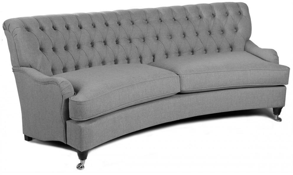 Howard Hamilton Oxford 4-sits svängd soffmodell - Ljus grå