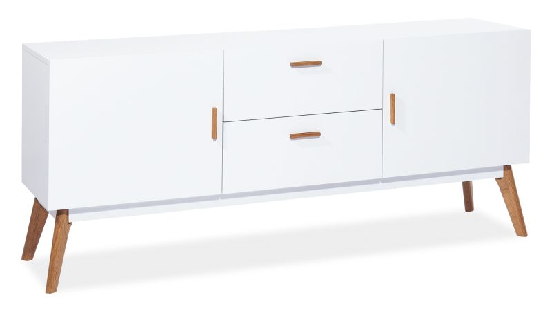 Linköping Sidebord 160 - Vit/Ek