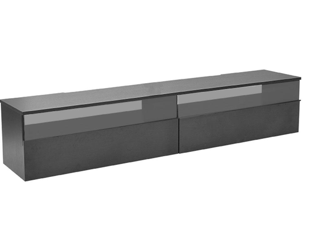 Decibel TV-bänk 200 med sockel - Svart