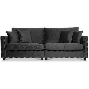Bellino 4-sits soffa - Svart Sammet