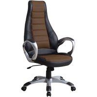Bashir kontorsstol - Svart/brun