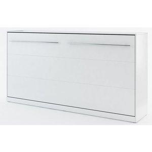 Sängskåp compact living Horisontellt (90x200 cm fällbar säng) - Vit (Matt)