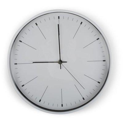 Klocka Needle - Vit/silver
