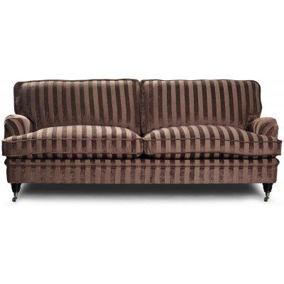 Howard Sir William 3-sits soffa (Dun) - Mobus Chocolate Stripe