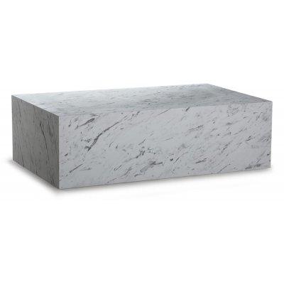 Sikfors soffbord - Vit marmorimitation