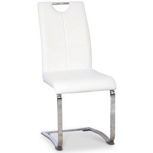 Opal stol - Vit Pu / krom