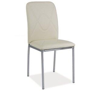 Whitney stol - Krämvit/krom