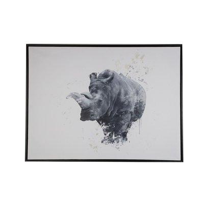 Tavla Noshörning - 80x60 cm