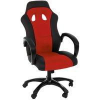 Gamingstol F430 skrivbordsstol - Röd/svart
