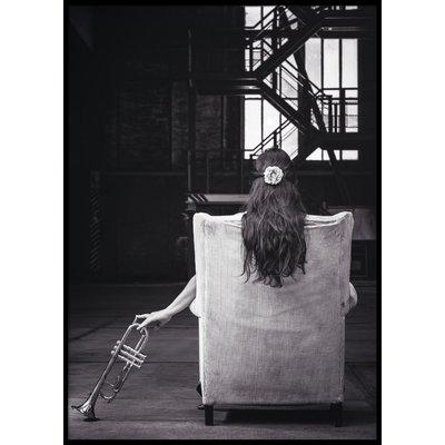 TRUMPET GIRL - Poster 50x70 cm