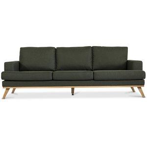 Ventura 3-sits soffa - Mörkgrön (Tyg)