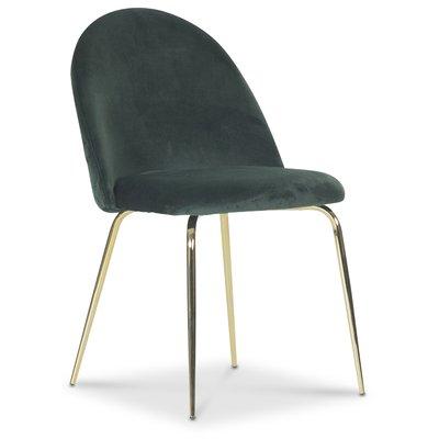 Plaza velvet stol - Grön / Mässing