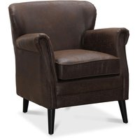 Wellington fåtölj - Vintage brun