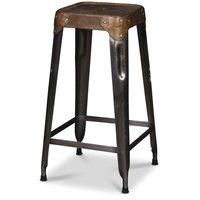 Karlskrona barstol- Metall/läder