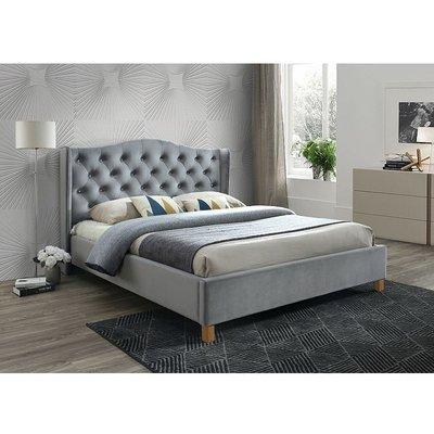 Duncan säng 160x200 cm - Grå (Sammet)
