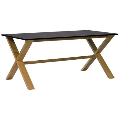 Artic matbord 180 cm - Ek / svart