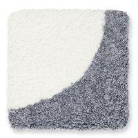 Curly stolsdyna fårskinn - Silvergrå/vit