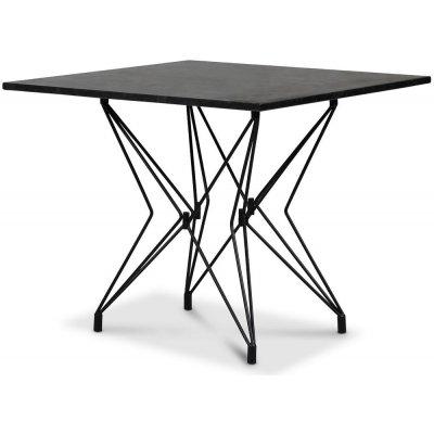 Zoo matbord 90x90 cm - Svart / Granit