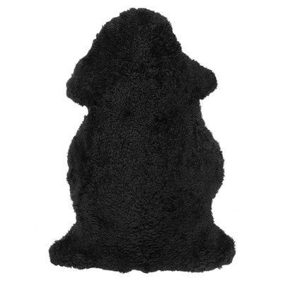 Curly fårskinn - 95x55 cm - Svart