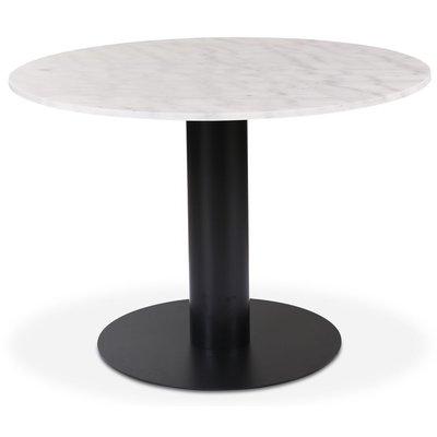 Next runt matbord i marmor D105 cm - Svart / marmor (Vit)