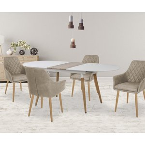 Preston matbord utdragbart 160-200 cm - Vit/Ek