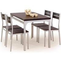 Myrsjö Matgrupp i Wenge - Bord inklusive 4 st stolar