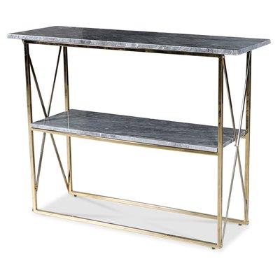 Paladium konsolbord - Mässing / Grå marmor