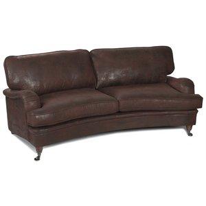 Howard Vintage svängd soffa - Läderutseende