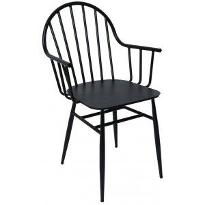 Lycke stol i smidesjärn - Svart