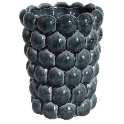 Vas Big Bouble H20 cm - Marinblå