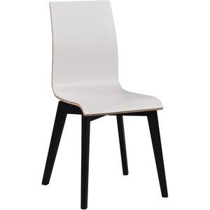 Aniyah stol - Vit/svartbetsad