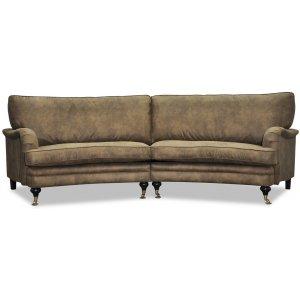 Howard 4-sits svängd soffa 259 cm - Range ecoläder