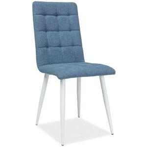 Jaqueline stol - Blå/vit