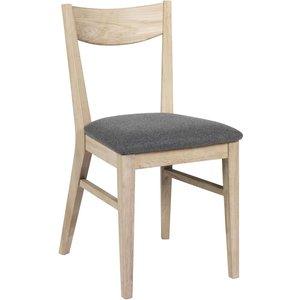 Kinley stol - Whitewash ek/ljusgrå