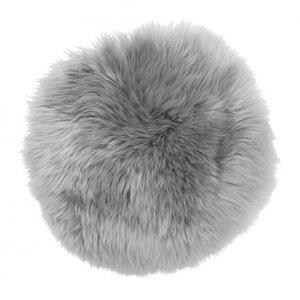 Gently rund stolsdyna - Ljusgrått fårskinn & 319.00