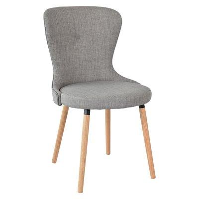 Boogie stol med ek ben - Grått tyg