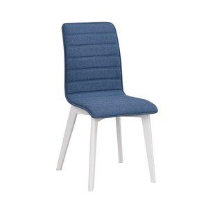 Hettie stol - Blå/vit