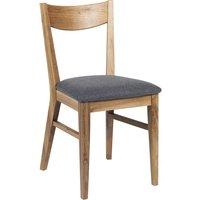 Kinley stol - Lackad ek/ljusgrå