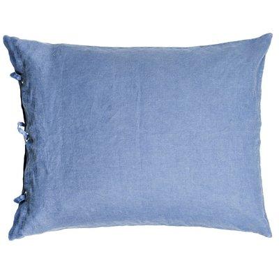Kuddfodral Linne 50x60 cm blå stentvätt - Olsson & Jensen