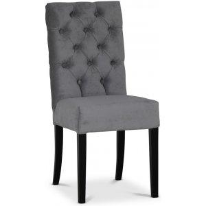 Lexington Milton stol - Grå (Sammet) / Svarta ben